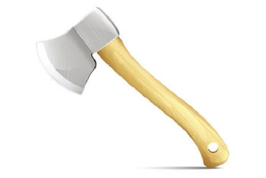 Heavy duty wood and fiberglass handle axe